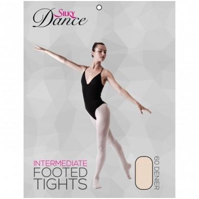 "Baleto pėdkelnės Silky Dance ""Intermediate Footed Tights"""